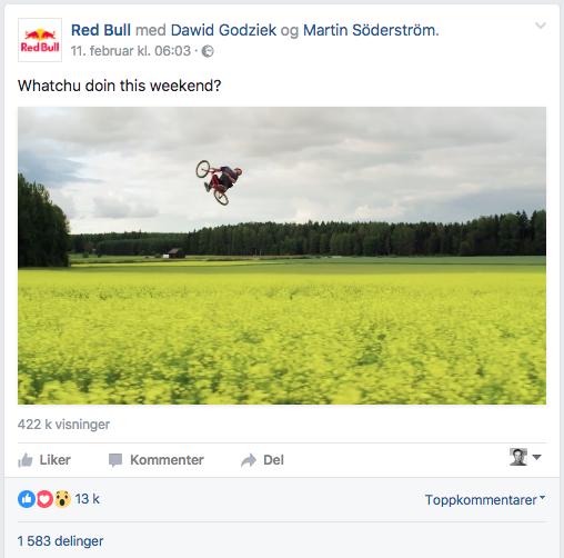 Red Bull - Facebook-post