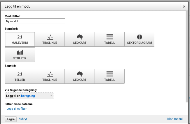 Google Analytics modul